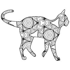 30 free coloring pages a geometric animal coloring book just for you