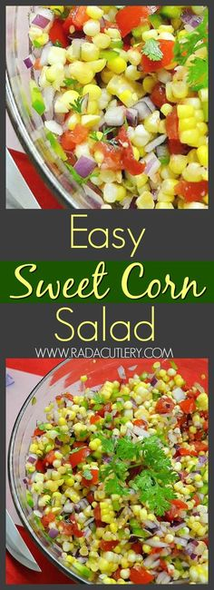 Sweet corn is one of the many popular foods consumed throughout the summer. Instead of just boiling or grilling your sweet corn, here is a simple recipe for you to try that is perfect for a picnic or summer gathering. This corn salad, made from fresh vege Fresh Corn Salad, Summer Corn Salad, Grilled Corn Salad, Summer Salads, Roasted Corn Salad, Corn Tomato Salad, Sweet Corn Recipes, Corn Salad Recipes, Corn Salads
