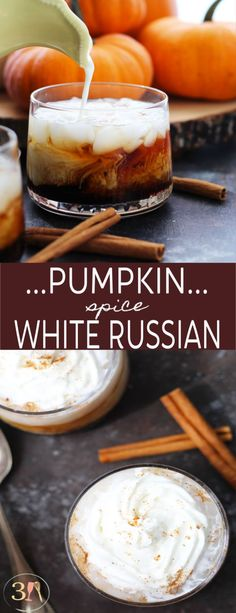 Pumpkin Spice White Russian is the perfect fall cocktail with the addition of . A Pumpkin Spice White Russian is the perfect fall cocktail with the addition of .,A Pumpkin Spice White Russian is the perfect fall cocktail with the addition of . Cocktails Vodka, Beste Cocktails, Fall Cocktails, Holiday Drinks, Christmas Drinks, Alcoholic Drinks For Fall, Christmas Christmas, Fall Drinks Alcohol, Frozen Cocktails