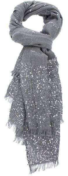 Delicate sparkly scarf like this but in pretty colours and not so expensive...