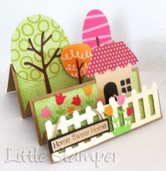 Love this scene card by Oshrat! ~ maybe I could do this with my cricut