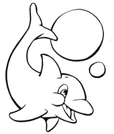 dolphin the fish playing ball with beautiful coloring pages dolphin coloring pages kidsdrawing - Slice Watermelon Coloring Page