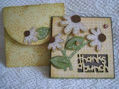 made using cricut walk in my garden cartridge - card and envelope
