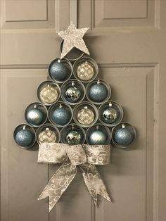This weekends project! Canning jar ring Christmas Tree!