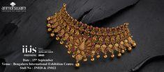 Visit us @ IIJS Bangalore September 15-2021 Gold Jewellery Design, Gold Jewelry, Contemporary Wedding Jewellery, Temple Jewellery, Wholesale Jewelry, Indian Jewelry, Traditional, September, Gold Jewellery