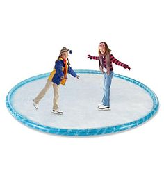 You can make your own backyard skating rink. Not helpful now that I live in CA. :) Cute idea tho.