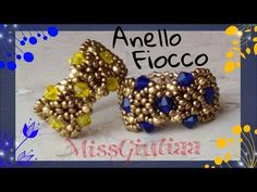 DIY : Tutorial Anello Fiocco | MissGiuliaa | come fare un anello con le perline e bicono - YouTube