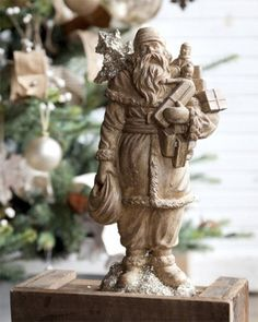 Santa Claus with Toys Figurine