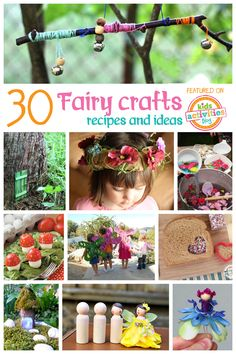 Does your little one dream of being a fairy? Pretty flowers, magical dust, and tiny foods always something they want? We ™ve put together thirty fun fairy crafts and recipes just for that special little someone! Fairy Crafts, Fun Crafts, Diy And Crafts, Crafts For Kids, Hero Crafts, Crafts Cheap, Beach Crafts, Nature Crafts, Garden Crafts