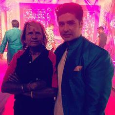 PankitThakker — With a cute fan on the set ! #BahuHumariRajni_Kant...