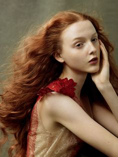 Redheads Jessica Chastain, Julianne Moore, Florence Welch and more by Annie Leibovitz for Vogue, August 2014