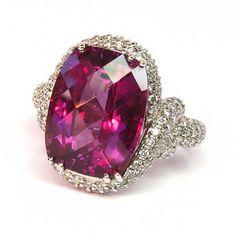 Studio 19 Collection 10.72 ct. Raspberry Rhodolite & Diamond Ring
