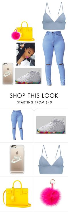 """""""Untitled #24"""" by haggieboo-1 ❤ liked on Polyvore featuring NIKE, Casetify, T By Alexander Wang, Yves Saint Laurent and RAJ"""
