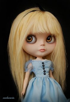 Blythe Alice....what are these creepy dolls? I'm kinda slap happy about them.