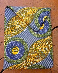 African Wax Print  iPad Sleeve by threadsofchange on Etsy, $52.00