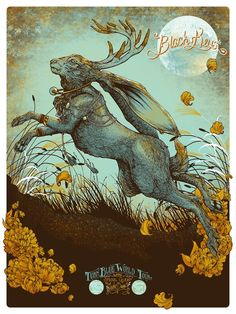 The Black Keys gig poster by Erica Williams