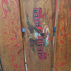 The original decal on our Flexible Flyer sled.   Ibon Antiques Find your treasures here 10523 79 Avenue in Edmonton's Old Strathcona neighbourhood.