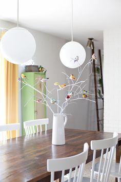 Bird Branches Table Centerpiece