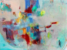"""Large Abstract Painting Canvas Colorful """"Parade Day""""  by kerriblackman for $385.00"""