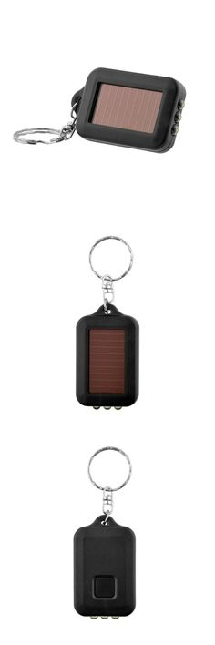 [Visit to Buy] Portable Outdoor Solar Power 3 LED Light Keychain Keyring Torch Flashlight Lamps outdoor camping equipment survival kit #Advertisement