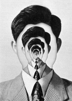 Creating depth of field with portraiture, incredible. A simple self portrait with the facial features removed could be a creative image to re-create. Psychedelic Art, Photomontage, Digital Collage, Collage Art, Collages, Face Collage, Photoshop, Gcse Art, Surreal Art