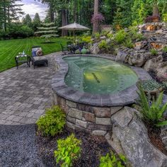 Landscape Above Ground Pool Design.
