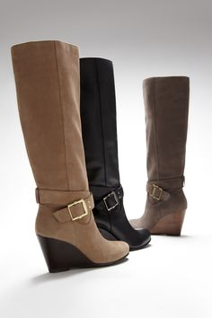 LOVE a wedge boot.