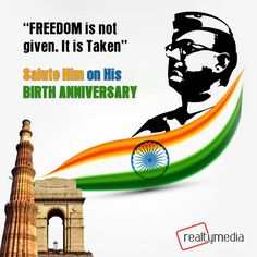 A Hero was born with a dream of free India. Salute to our national hero, #Netaji_Subhash_Chandra_Bose, the founder of Indian National Army! #realtymedia