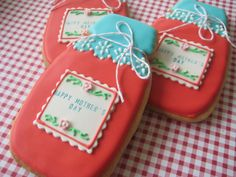 mason jar mother's day by sugarlily cookie, via Flickr