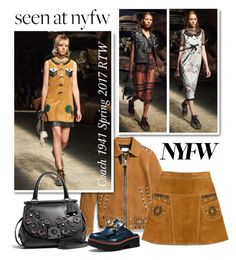 Style It: Best NYFW Trend by emavera on Polyvore featuring polyvore fashion style Coach Coach 1941 clothing NYFW coach