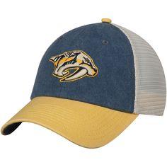 Men s Nashville Predators American Needle Navy Gold Hanover Unstructured Adjustable  Hat c65109b7a587
