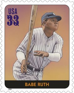 Babe Ruth was the most celebrated athlete of his time.  Before beginning play…