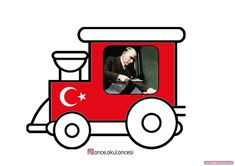 Atatürk Treni Atatürk Haftası Grafiği Very Tired, Diy And Crafts, Kindergarten, Projects To Try, Preschool, Education, Arrow Keys, Close Image, Bear