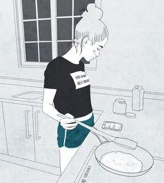 time breakfast ready - illustration - roma_gutierrez | ello
