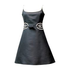 Louis Feraud Black Dress, circa 1960s | From a collection of rare vintage day dresses at https://www.1stdibs.com/fashion/clothing/day-dresses/