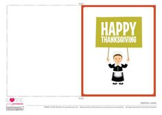 Free Happy Thanksgiving printable cards #thanksgiving #printables