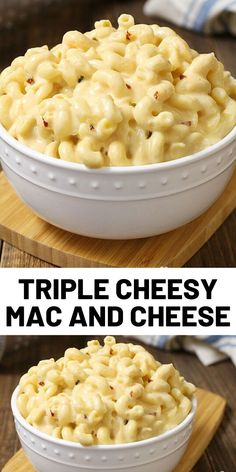 Slow Cooker Triple Cheesy Mac and Cheese is a simple recipe that you can toss together in just 5 minutes. Slow Cooker Recipes, Crockpot Recipes, Cooking Recipes, Slow Cooker Pasta, Cooking Tools, Crockpot Dishes, Crock Pot Cooking, Crock Pots, Cheesy Mac And Cheese