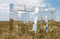 sculpture by Ryan Everson, whose work involves beautiful and emotional large scale typography.