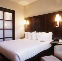 Habitación del AC Hotel Valencia   http://www.espanol.marriott.com/hotels/hotel-rooms/vlcva-ac-hotel-valencia/