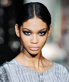 Chanel Iman's dramatic smoky eye is stunning.