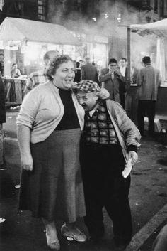 Diane Arbus, 1958, Little Man Biting a Woman's Breast