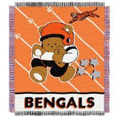 NFL Cincinnati Bengals Woven Jacquard Baby Blanket/Throw - buybuyBaby.com