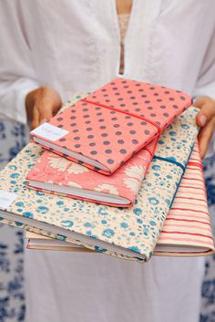 Kerry Cassill - Luxury Indian printed Bedding and Apparel — Large Notebook