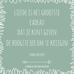 Liefde is het grootste kado #spreuk