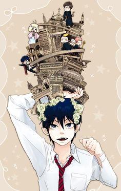 Ao no Exorcist (Blue Exorcist) Mobile Wallpaper - Zerochan Anime Image Board Ao No Exorcist, Blue Exorcist Anime, Rin Okumura, Mephisto, Manga Anime, Anime Nerd, Fullmetal Alchemist, Another Anime, Noragami