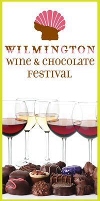 We love the Wine and Chocolate Festival in historic downtown Wilmington!  A sweet affair! #WineAndChocolateFestival
