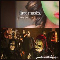 Just Girly Things: Face masks | Slipknot