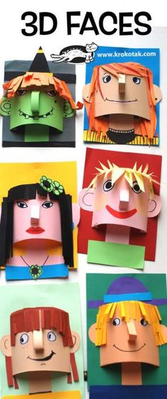 20 trendy group art projects for kids paper Group Art Projects, Cool Art Projects, Projects For Kids, Puppet Crafts, Craft Stick Crafts, Diy Crafts, Craft Ideas, Classe D'art, Origami