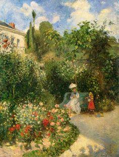 """Camille Pissaro """"Garden in Pontoise"""""""