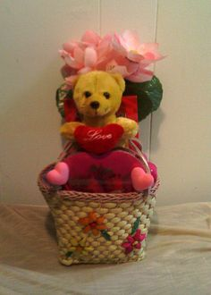 Vintage Purse Teddy Bear Valentine Gift 2 Available by cappelloscreations, $30.00@Etsy
